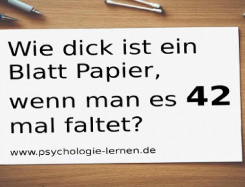 Psychologie-Rätsel: Wie dick ist ein Blatt Papier, wenn man es 42 mal faltet?